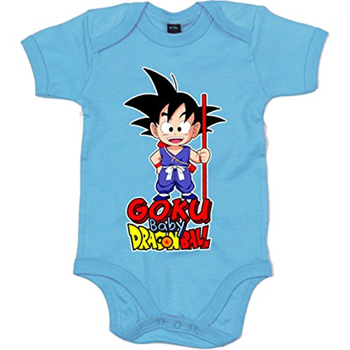 Body bebé Dragon Ball baby Goku - Blanco, 6-12 meses