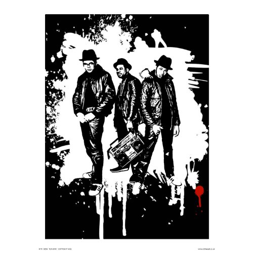 Run DMC Pop Art Poster Print (OTW - Run 80s Dmc