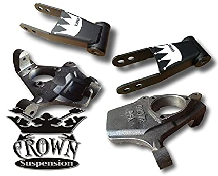 Amazon com: Crown Suspension Lowering Kit 2007-2017 Chevy