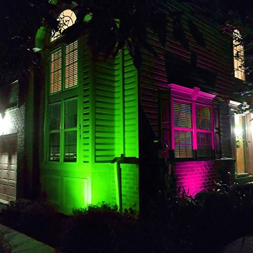 AFSEMOS 10W RGB Landscape Lighting-12V Low Voltage Landscape Lights-Remote Control Color Changing Outdoor Spotlight Decorative Lights (3 Pack)