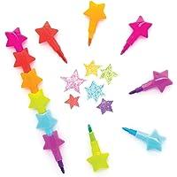 Baker Ross AX331 Ster Stapelkrijtjes - Pak Van 8, Kleurpotloden Voor Kinderen Om Toe Te Voegen Aan Hun Etuis…