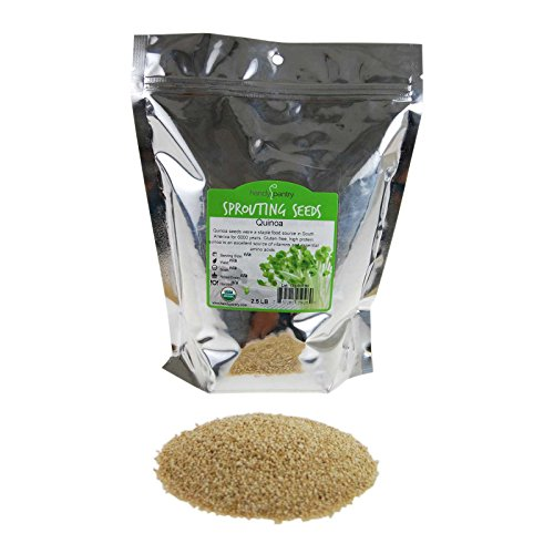 (Certified Organic Quinoa Grain Sprouting Seeds -2.5 Lbs Grind for Quinoa Flour, Cereal, Emergency Food Storage More)