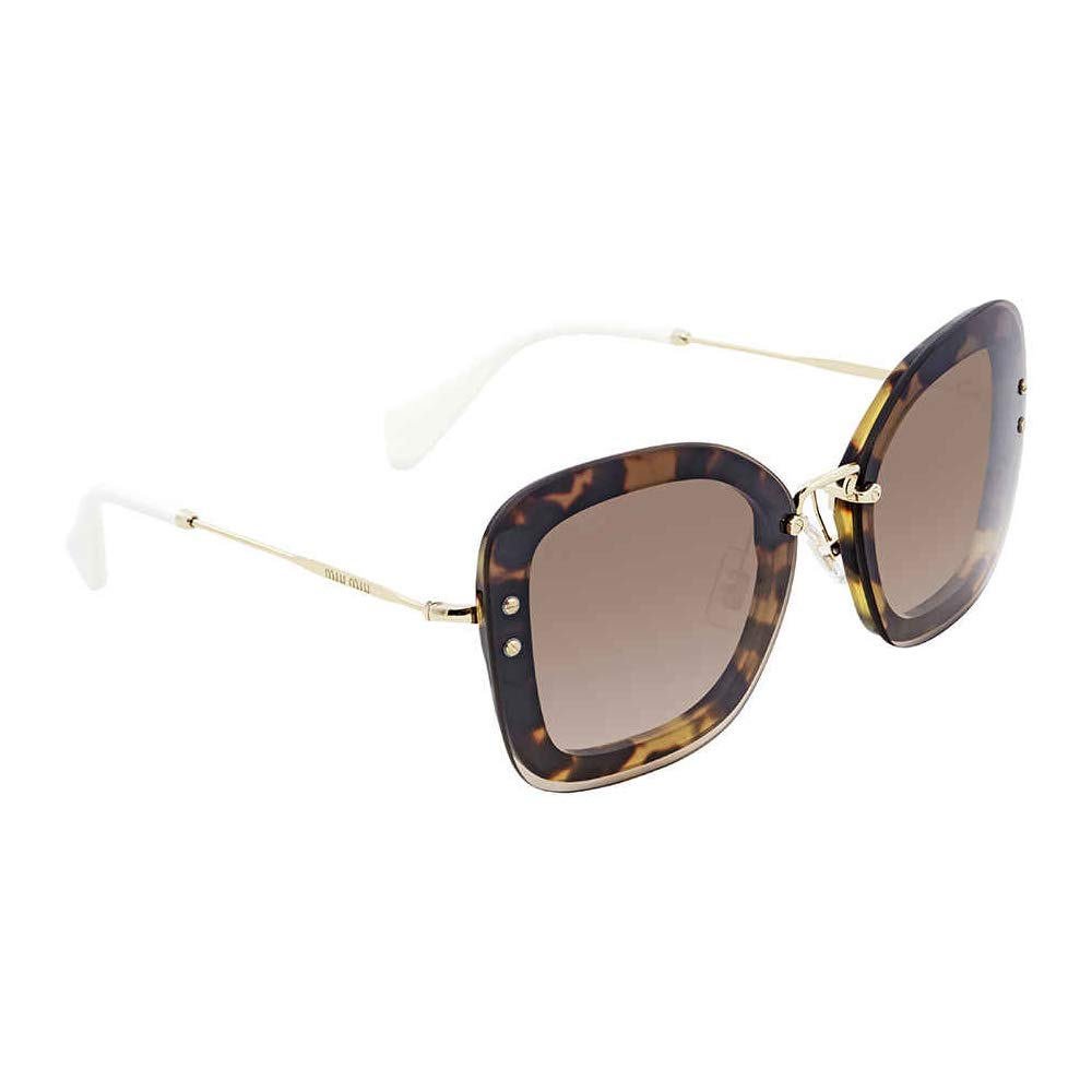 9092b999fdcd Miu Miu MU02TS 7S04P0 Light Havana MU02TS Rectangle Sunglasses Lens  Category 3