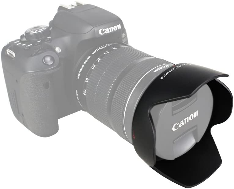 EF-S 18-135mm f//3.5-5.6 IS Lens JJC Bayonet Dedicated Lens Hood for Canon EF-S 17-85mm f//4-5.6 IS USM Replaces Canon EW-73B OEM Lens Hood EF-S 18-135mm f//3.5-5.6 IS STM