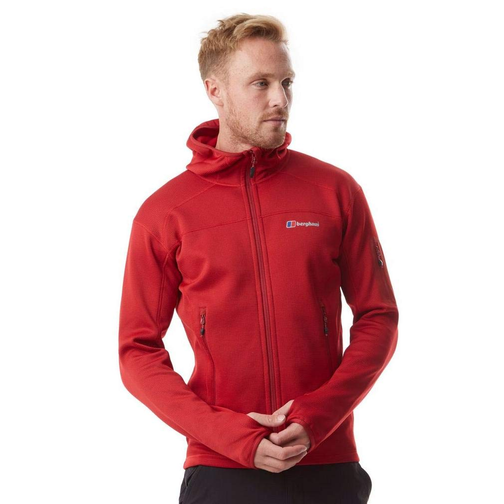 Extrem Red Tango Red L Berghaus Men's Pravitale Moutain 2.0 Hooded Fleece Jacket