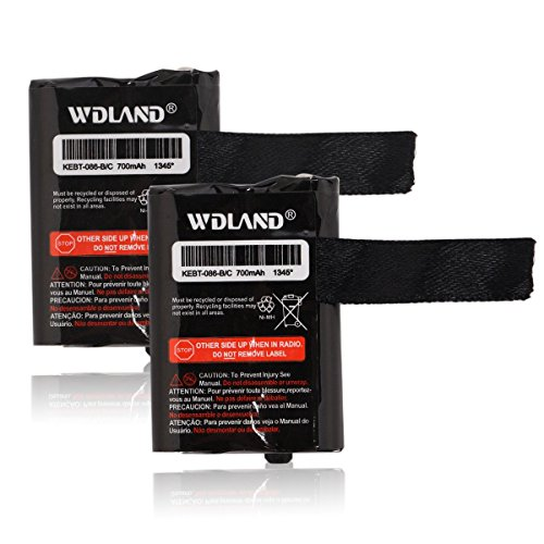 WDLAND 3.6V 700mah Nickel Metal Hydride Two-Way Radio Rechargeable Battery Pack for Motorola GMRS/FRS Motorola M53617 / 53617, KEBT-086-A, KEBT-086-B, KEBT-086-C, KEBT-086-D (Pack of 2) ()