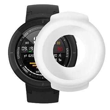 Saisiyiky Amazfit Verge Protector Funda Suave de Silicona de protección TPU Completa para Huami Amazfit Verge Smartwatch