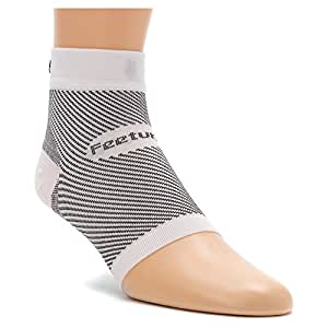 Feetures! PF Sleeve Socks, Small, White