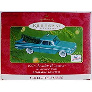 Hallmark QX6072 All American Trucks 1959 Chevrolet El Camino Keepsake Ornament