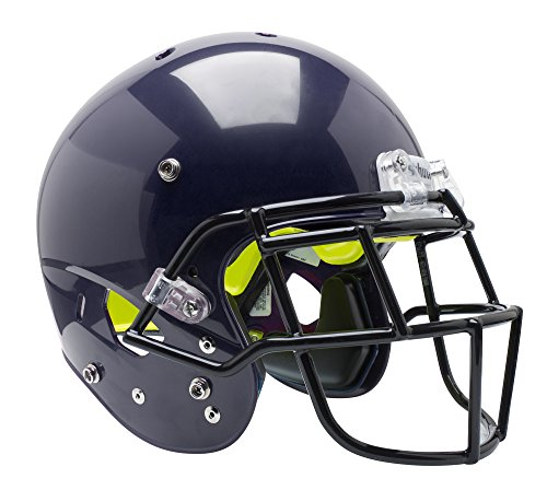 Schutt Sports Youth AiR Standard V Football Helmet with Grey ROPO-SW-YF Faceguard, Navy, X-Small