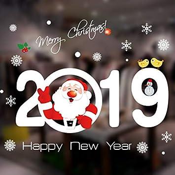 Decorazioni Natalizie 2019 Fai Da Te.Zhaowm Adesivo Murale Adesivo Murale Di Natale Adesivi