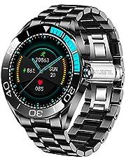 Smartwatch da Uomo LIGE, IP67 Impermeabile Fitness Tracker Orologi Frequenza Cardiaca Ossigeno Nel Sangue Monitor Della Pressione Sanguigna Touch Screen Completo Sport Orologio Intelligente…