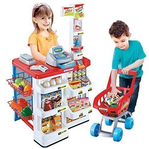 enfants électronique supermarché Scanner TILL & CHARIOT DE COURSES Roleplay SET