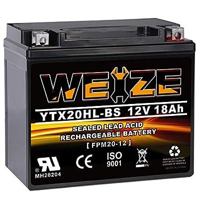 WEIZE YTX20HL-BS ATV AGM battery for honda
