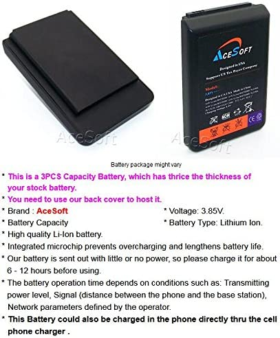Phone 10900mAh Rechargeable Extended Battery Soft TPU Full Edge Protection Case for LG V20 H910 AT/&T Black Up to 3X Extra Battery Power