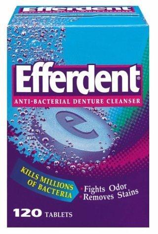 Efferdent Denture Cleanser, 120-Count Tablets (Pack of ()