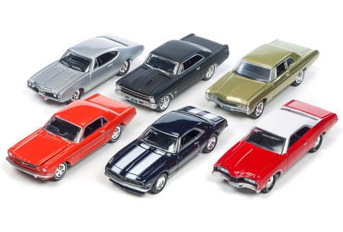 Muscle Car Set - Muscle Cars USA Set of 6 cars Release D 1/64 by Johnny Lightning JLMC002-D