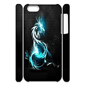 LJF phone case C-Y-F-CASE DIY Sparkle Angry Dragon Pattern Phone Case For iphone 4/4s