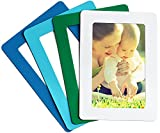 Merkapa Magnetic Photo Picture Frames and Refrigerator Magnets, Pocket Frame, Holds 4 x 6 inches Photos, 4 Pack (Matte, Mediterranean 1)