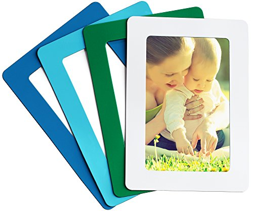 Magnetic Photo Picture Frames and Refrigerator Magnets, Pocket Frame, Holds 4 x 6 Inches Photos, 4 Pack (Mediterranean 1) by Aimen
