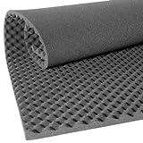 Black Egg Crate Foam Foam Nations 2.5inch Eggcrate Foam - Charcoal - 72