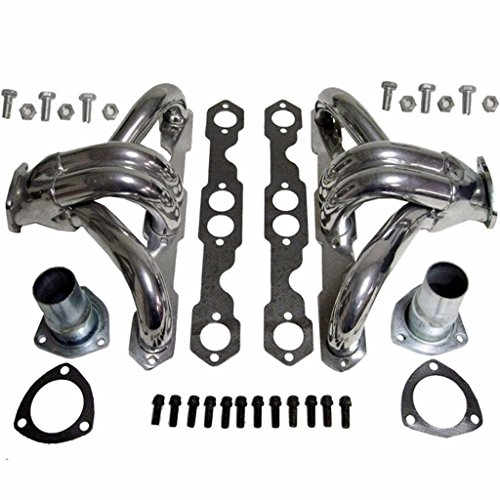 Shorty Ceramic (For Chevy SBC Small Block Hugger Shorty Ceramic Coated Header Manifold/Exhaust)