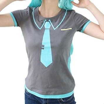 Vocaloid Miku Hatsune Miku-al estilo de la camiseta del traje ...