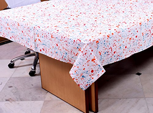 Miyanbazaz Textiles 100% Cotton Dining Table cloth Multi Dot Printed 6 Seater Table Cover 60X90 Inch