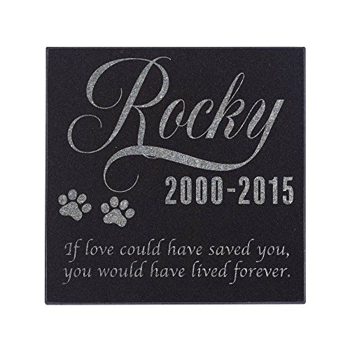 - Personalized Pet Memorial Stone Customized Memorial Stone for Loved One's Sympathy Gift - Indoor-Outdoor Headstone Granit Pet Memorial Stone Personalized Dog/Cat Grave Marker 6