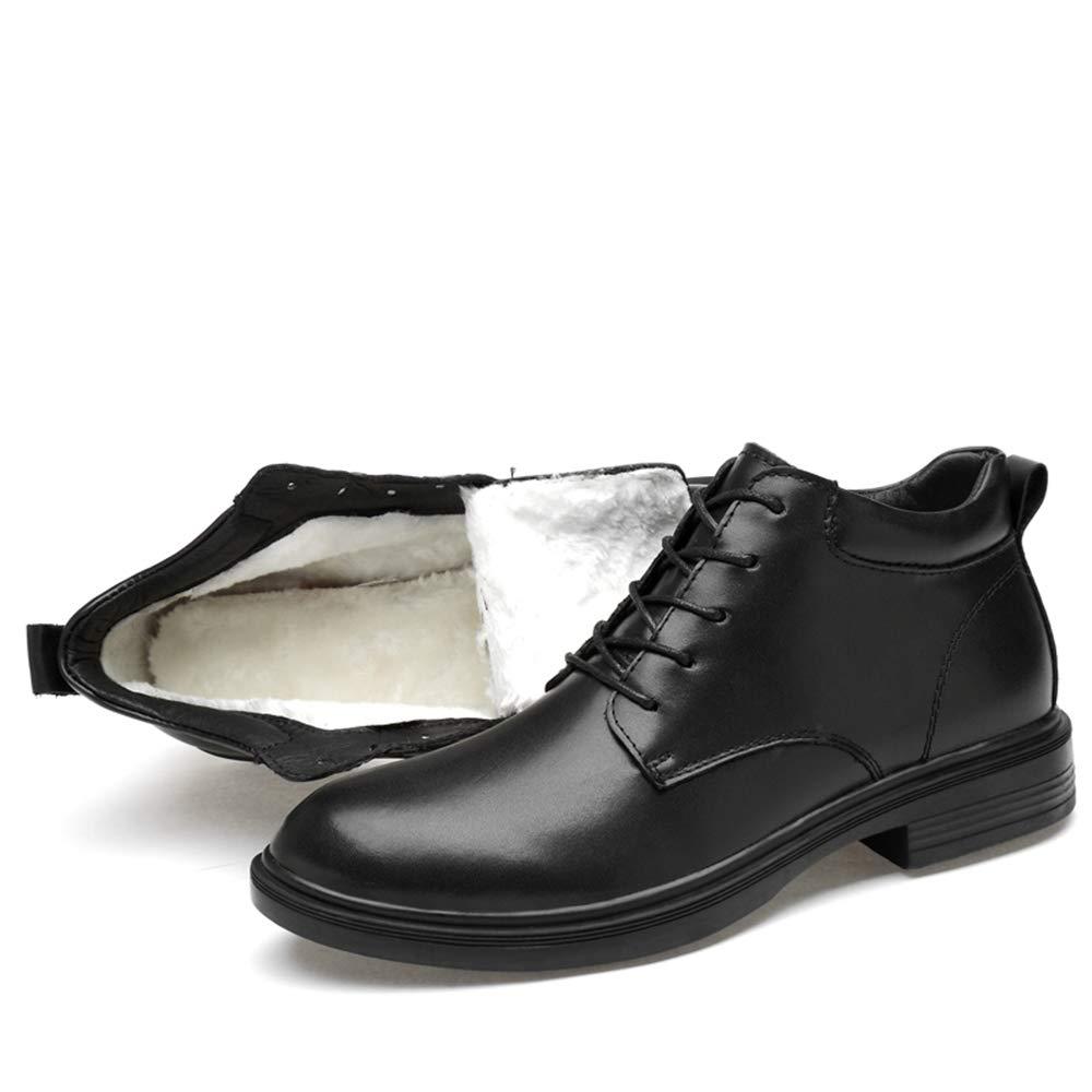 Ruanyi Mode Stiefel, Casual Winter Persönlichkeit Winter Fleece Fleece Fleece Inside High Top Schnüren Big Größe Stiefel (konventionell Optional) Für Männer (Farbe   Warm schwarz, Größe   37 EU) ff7d55