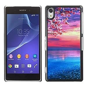 All Phone Most Case / Oferta Especial Duro Teléfono Inteligente PC Cáscara Funda Cubierta de proteccion Caso / Hard Case Sony Xperia Z2 // Cherry Blossom