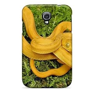 Hot Fashion KgVpmNU8951MMLQl Design Case Cover For Galaxy S4 Protective Case (gold Amazon Tree Boa)