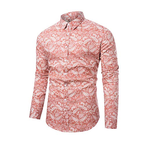 WULFUL Men's Floral Printed Dress Shirt Paisley Causal Party Long Sleeve Button Down Shirts
