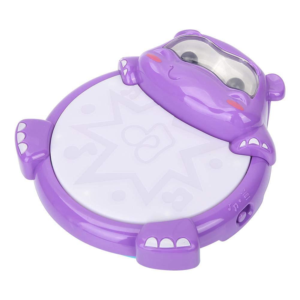Colorido beb/é sonajero electr/ónico Forma de hipop/ótamo Tambor de m/úsica educativa Simlug Conjunto de bater/ía para ni/ños
