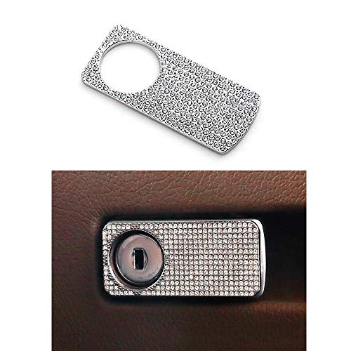 Ind Pilot - Thor-Ind Car Copilot Storage Box Handle Switch Cover Trim Sticker Decoration for Mercedes Benz C/E/M Class GL GLE GLC CLS SL SLK W205 X253 E200 E300 W205 C200 C180 GLC260 Diamond Decoration