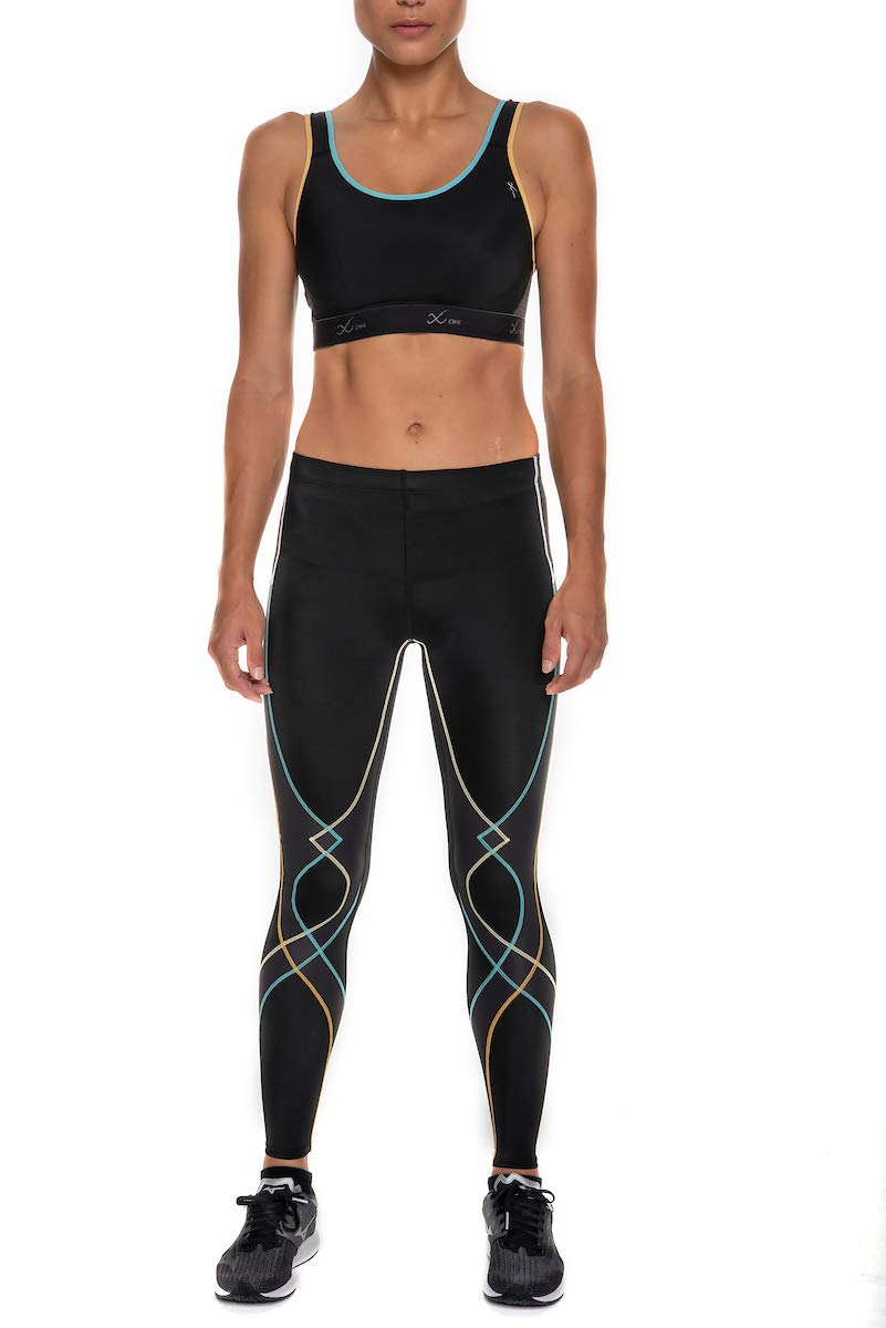 CW-X Women's Stabilyx Joint Support Compression Tight, Black/Bright Rainbow, Small by CW-X (Image #4)