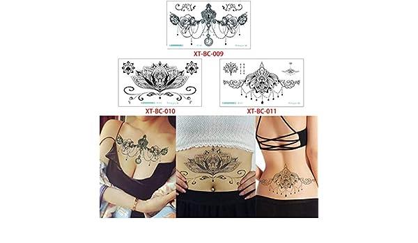 yyyDL Etiqueta engomada temporal impermeable del tatuaje Pecho ...