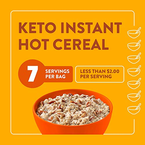 HighKey Snacks Keto Breakfast Cereal - Low Carb Food - Oatmeal & Grits Substitute - High Protein Gluten & Grain Free Snack - Ketogenic Friendly Foods & Products - Diabetic Diet - Maple & Brown Sugar 6