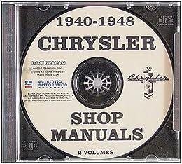 1940 1948 chrysler cd rom repair shop manual chrysler amazon com 1940 1948 chrysler cd rom repair shop manual unabridged