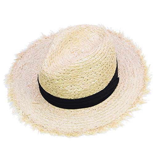 Sandy Ting Raffia Cowboy Hats Classic Fedora Straw Hat Jazz Cap Summer Beach Hat Caps ()