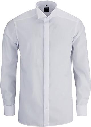 Slim OLIMPO galà camisa de manga larga con cuello de pajarita [tipo]: Amazon.es: Ropa y accesorios