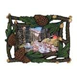 Rivers Edge Products 4 X 6-Inch Pine Cone And Cedar Picture Frame