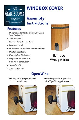 Bamboo Wine Box Cover by Giants Tomb Trading Co. (Image #7)