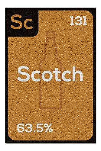 Periodic Drinks - Scotch (20x30 Premium 1000 Piece Jigsaw Puzzle, Made in USA!)