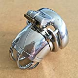 ccTina Metal Cock Cage Penis Sleeve Stainless Steel Male Chastity Device with Anti-off Cock Rings For Men Sex Toys Bird Lock Sextoys