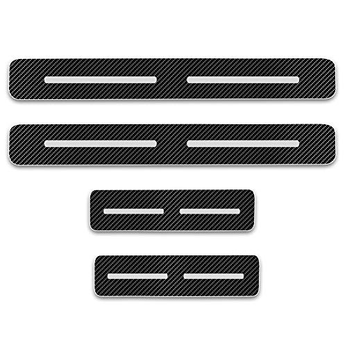 (Car Door Sill Door Entry Guard Car Door Entry Protectors For Nissan 350Z 4D Carbon Fiber Vinyl Sticker 4pcs Auto Accessories)