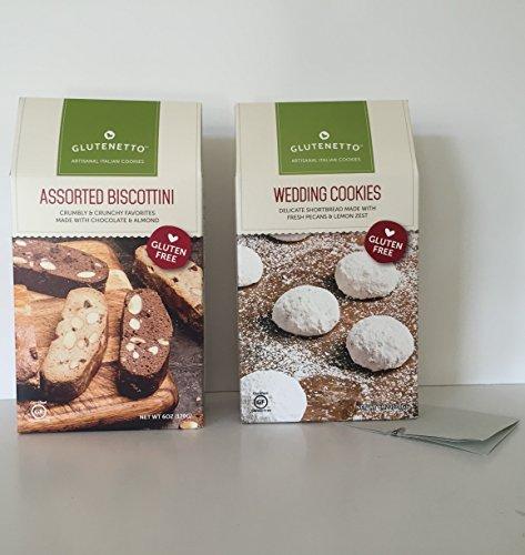 Chocolate Dutch Wine (GLUTEN FREE: Glutenetto Gourmet Cookie Bundle: Gourmet Shortbread Wedding Cookies & GF Assorted Biscottini Plus a Bonus Free G FREE-NUT FREE 3- Item Candy Recipe from Z-Organics (2 Items +)
