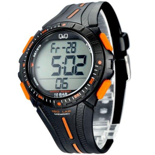 Q amp;Q Digital Black Dial Men #39;s Watch   M102J002Y