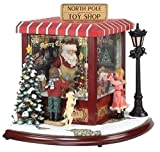 Amusements LED Lighted Animated & Musical North Pole Toy Shop Christmas Decor