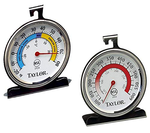 Taylor Precision Products Classic Series Large Dial Thermometer (Freezer/Refrigerator And Oven) by Taylor Precision Products